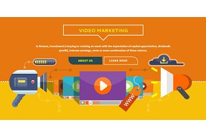 Video Marketing. Concept for Banner