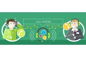 Call Centre Operator and Clients