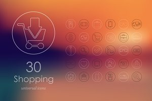 30 shopping icons
