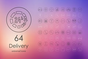 64 delivery icons