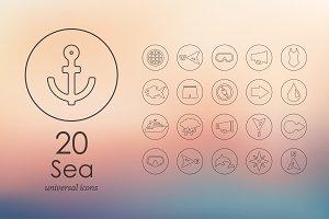 20 sea icons