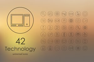 42 technology icons