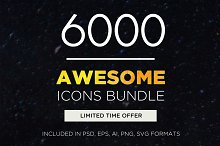 Awesome Icons Bundle | 6000 Icons