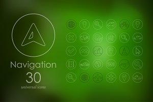 30 navigation icons