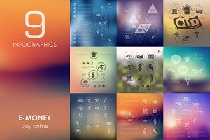 9 e-money infographics