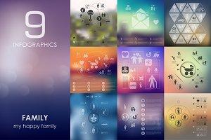 9 family infographics