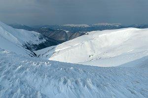 Winter mountain panorama
