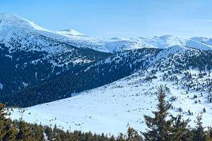 Mountain winter panorama.