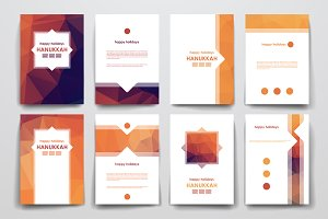 Hanukkah Set Of Brochure Templates