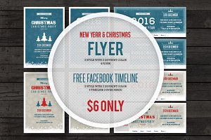 New Year 2016 & Christmas Flyer