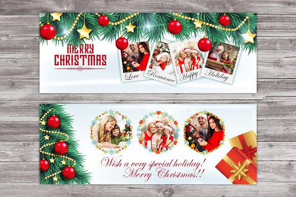 Christmas Facebook Timeline Cover ~ Website Templates ~ Creative Market