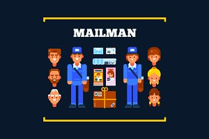 Postman and Postal Items