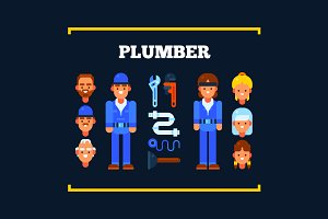 Plumbers and Tools for Repair