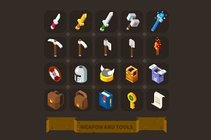 Fantasy Game Icons: Weapon and Armor