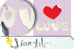 Valentine`s Day scrapbooking element