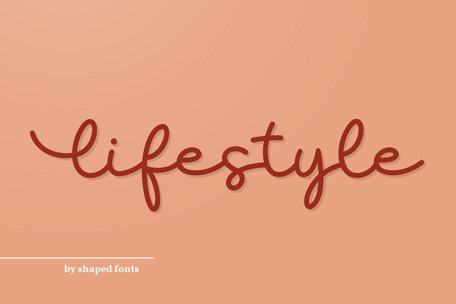 Lifestyle I Monoline Script Font