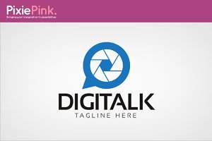 Digi Talk Logo Template