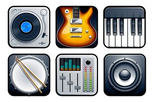 Musical APP Vector Icons