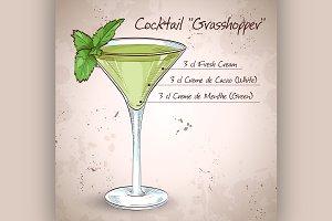 Grasshopper alcoholic cocktail