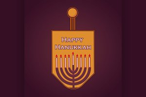 Hand sketched Happy Hanukkah