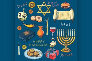 Hanukkah traditional jewish holiday