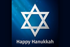 Happy Hanukkah holiday background
