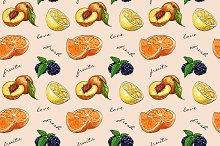 Pattern fresh fruit