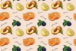Pattern fresh fruit
