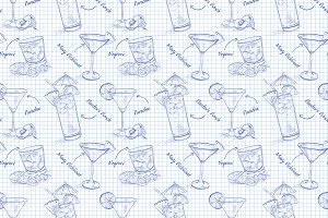 Scetch pattern contemporary classic
