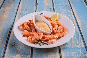 Tails of shrimps
