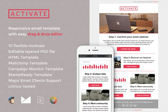 Activate email template builder email templates for Activation email template
