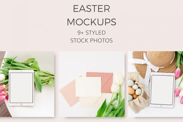 Easter Mockups (9+ Styled Images)