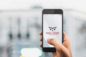 Owl Code Logo Template