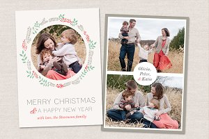 Christmas Card Template CC010