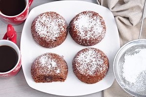 Winter chocolate muffins