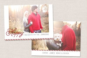 Happy Holidays Card Template CC043