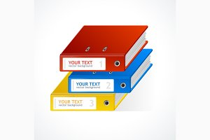 Binders Infographics. Vector
