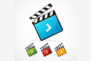 Media Player Icon Set. Vector