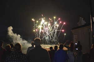 Onlookers at Firework Display