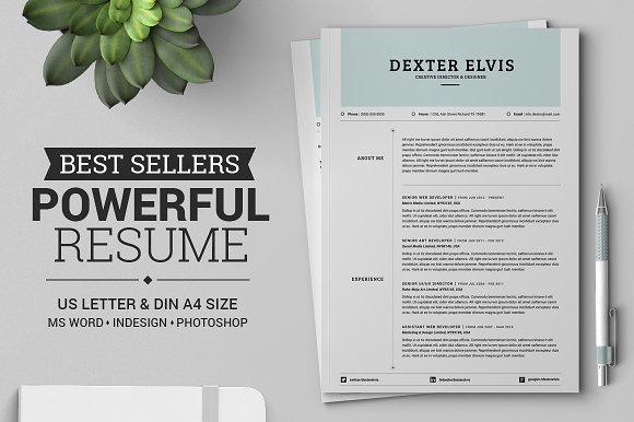 best sellers 2 pages powerful resume resume templates creative