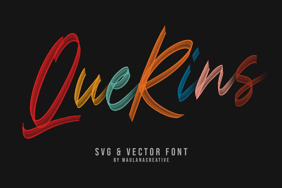 Querins SVG Brush Font in Display Fonts - product preview 8