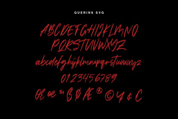 Querins SVG Brush Font in Display Fonts - product preview 2
