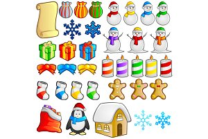 Christmas Items Vector
