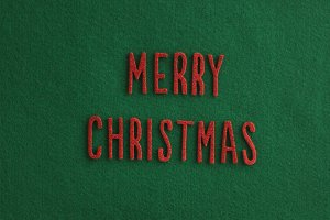 Merry Christmas vertical stock photo