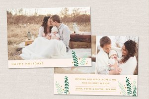 Holidays Photo Card Template CC046