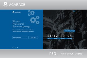 Agarage coming soon psd template