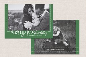 Christmas Card Template CC048