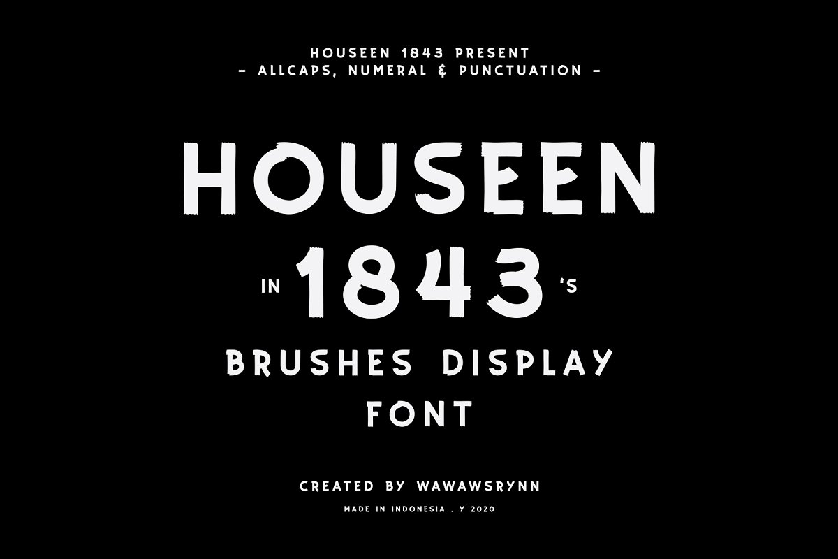 HOUSEEN 1843 in Display Fonts - product preview 8