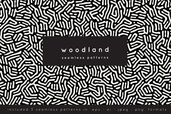 Woodland Seamless Patterns Set