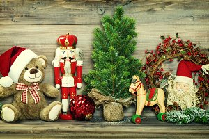 Christmas decoration vintage toys